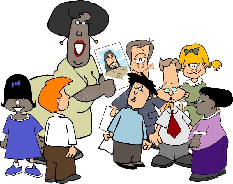 Escola de domingo cristã ilustração stock