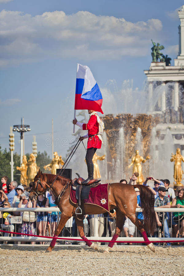 Escola de equitação do Kremlin do desempenho fotos de stock royalty free