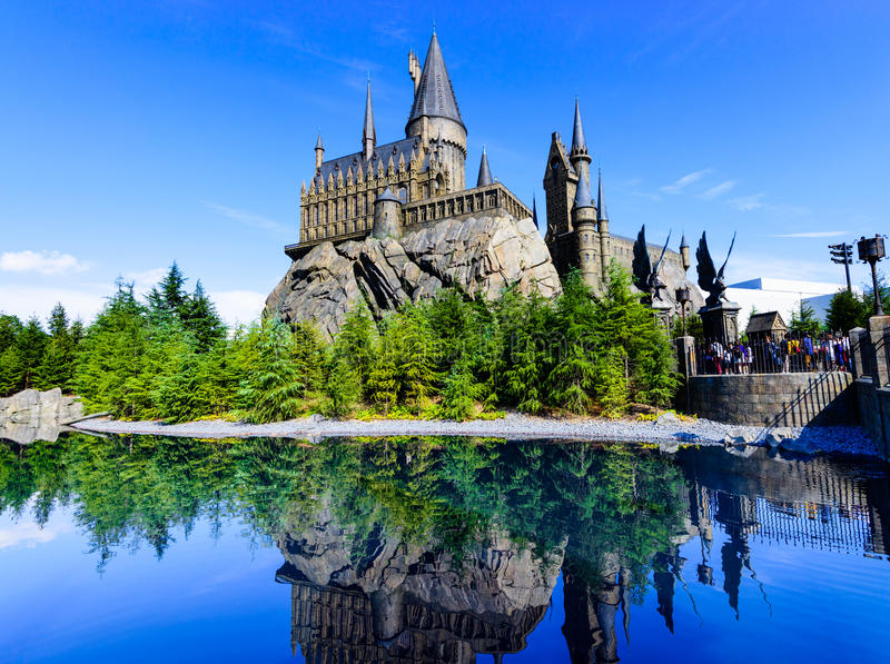 A escola de Hogwarts de Harry Potter fotos de stock royalty free