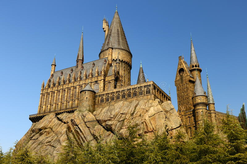 A escola de Hogwarts de Harry Potter imagem de stock royalty free