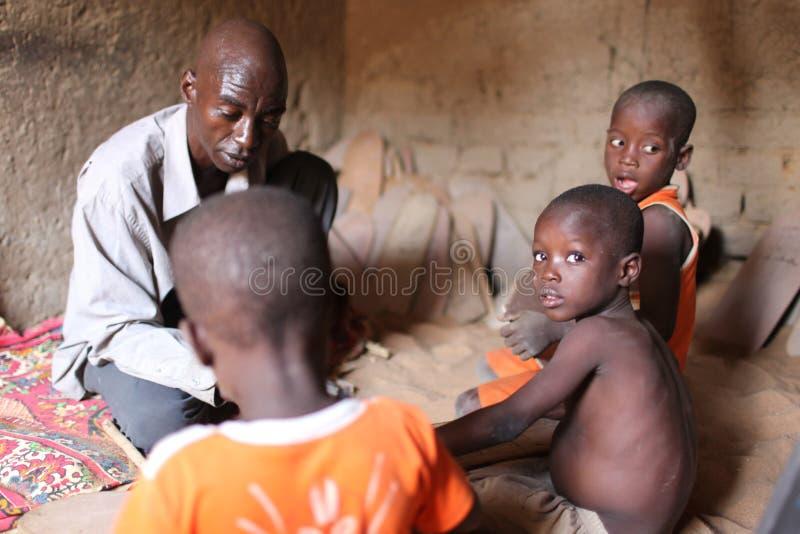 Escola de Koran, Djenne, Mali imagem de stock
