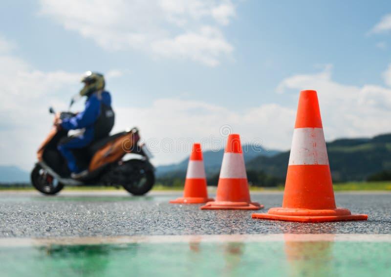 Escola de treinamento da motocicleta fotografia de stock