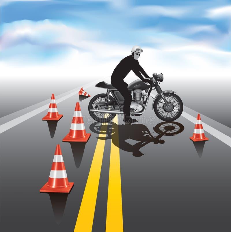 Escola de treinamento da motocicleta ilustração royalty free