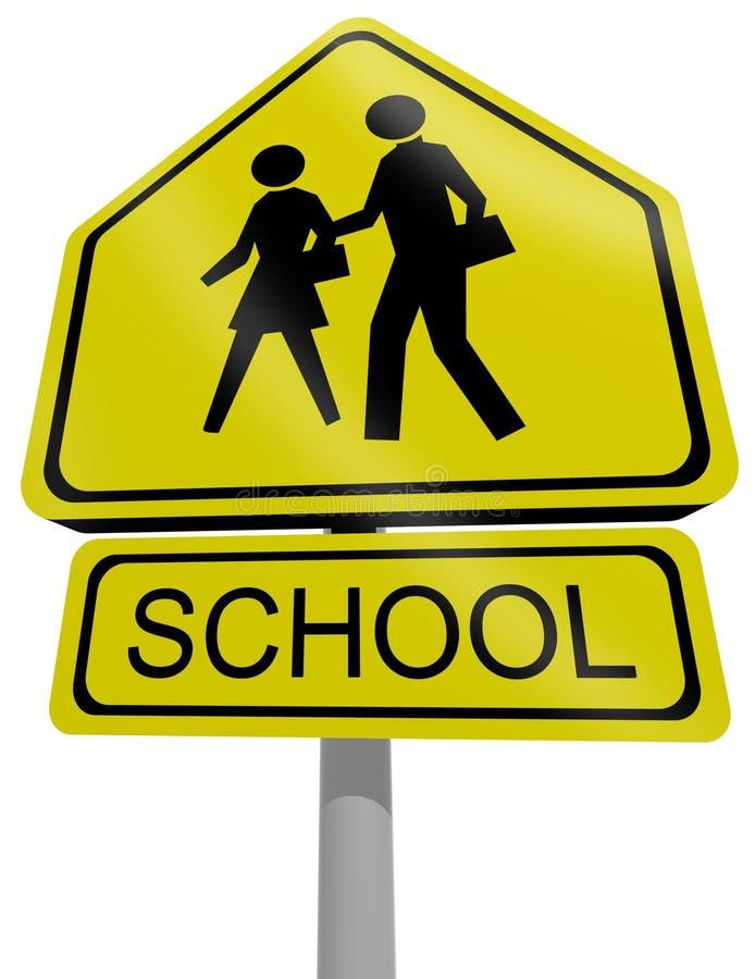 Escola do sinal de tráfego ilustração stock