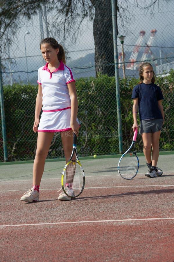 Escola do tênis exterior foto de stock royalty free