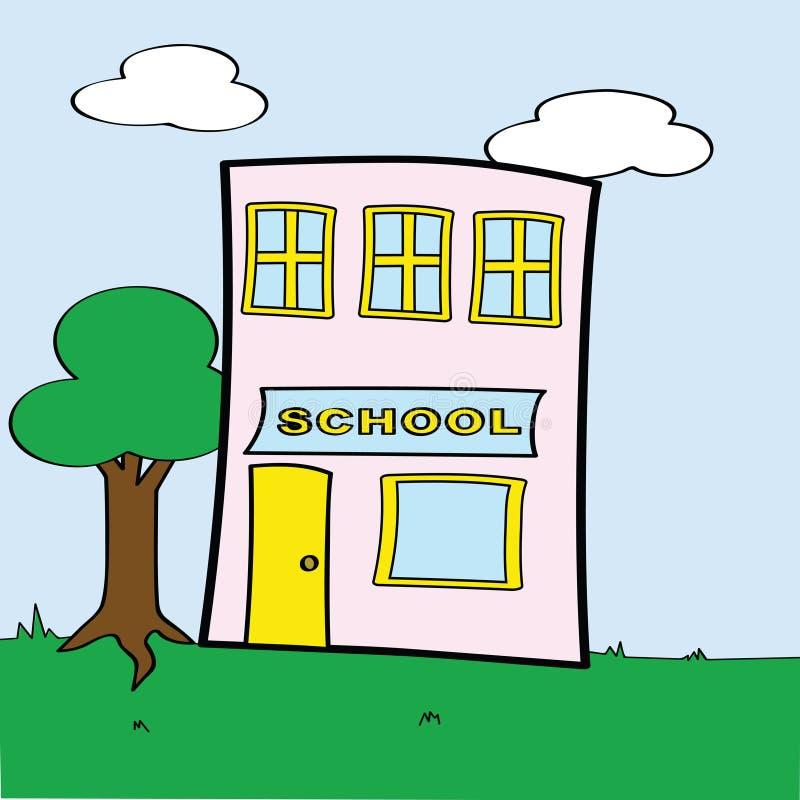 Escola dos desenhos animados ilustração do vetor