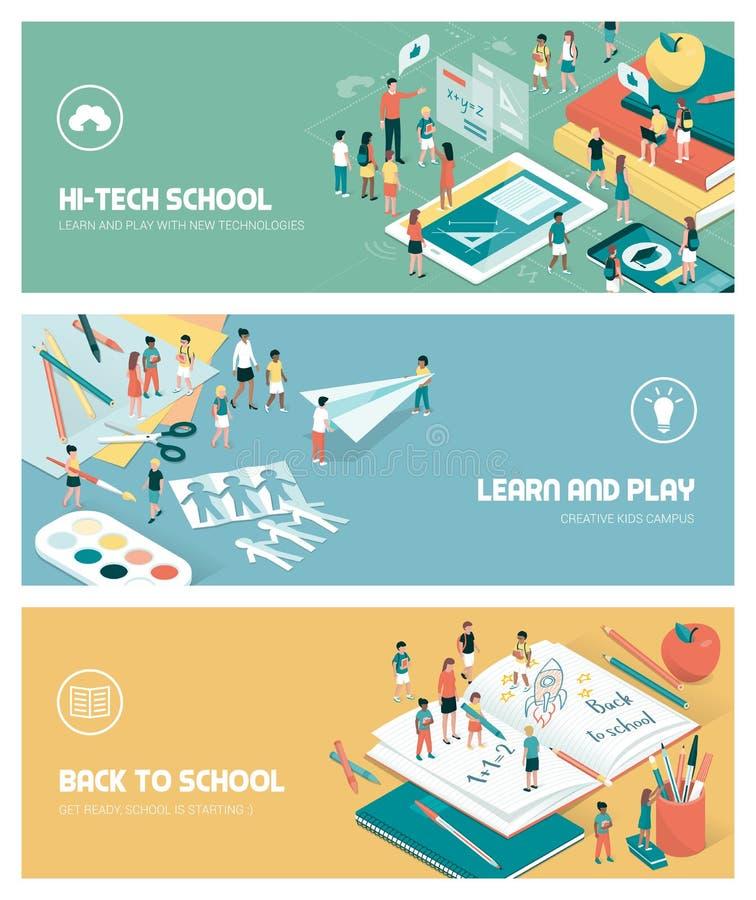 Escola e instrução ilustração do vetor