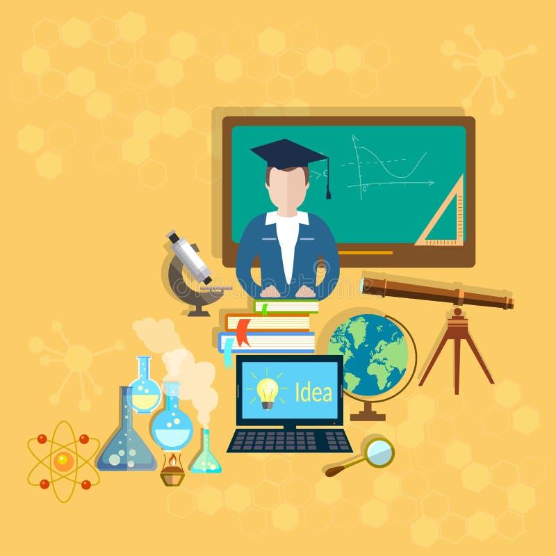 Escola e sala de aula dos professores da educação ilustração royalty free