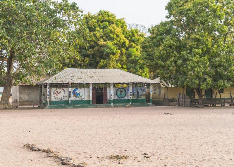 Escola em Kanilai foto de stock