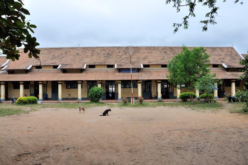 Escola em Laos foto de stock