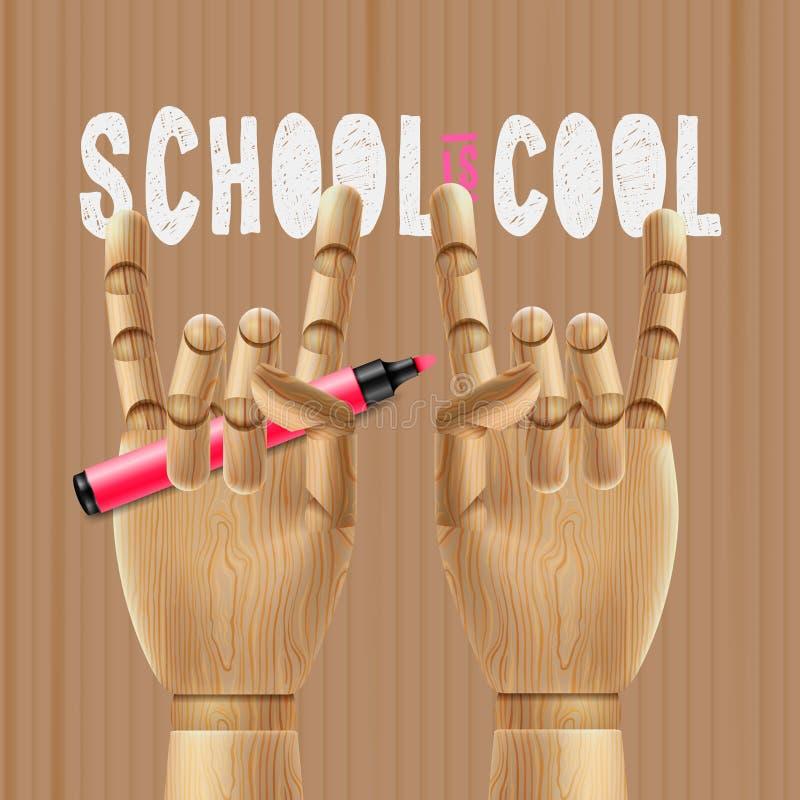 A escola está fresca ilustração royalty free