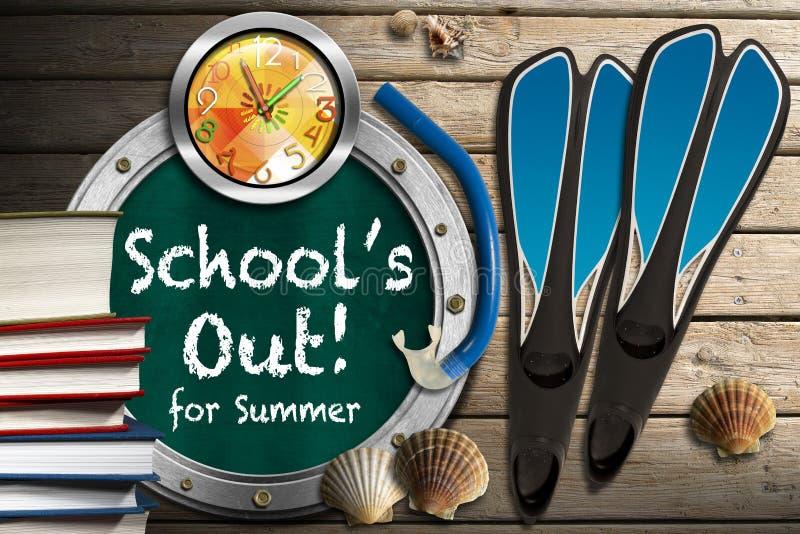 A escola está para fora para o verão ilustração royalty free