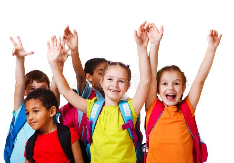 Escola Excited Miúdos Envelhecidos Fotografia de Stock