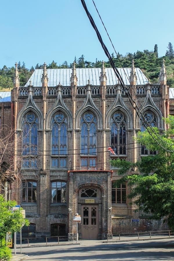 Escola gótico em Tbilisi fotografia de stock