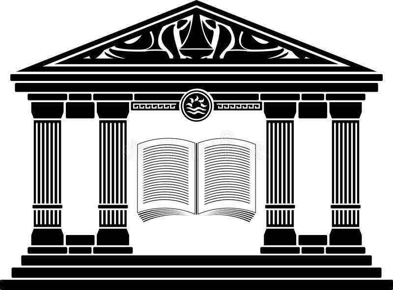 Escola helénica antiga. estêncil ilustração stock