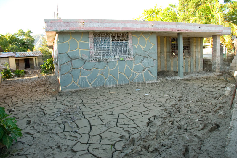 Escola inundada fotos de stock