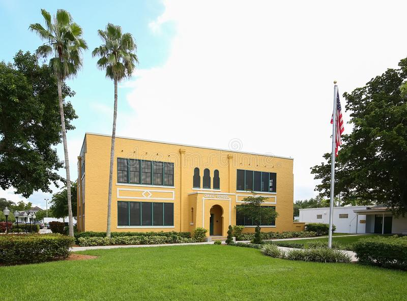 A escola a mais velha em Davie, Florida, EUA fotografia de stock royalty free