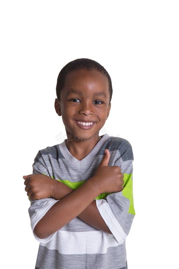Escola nova menino envelhecido imagens de stock royalty free