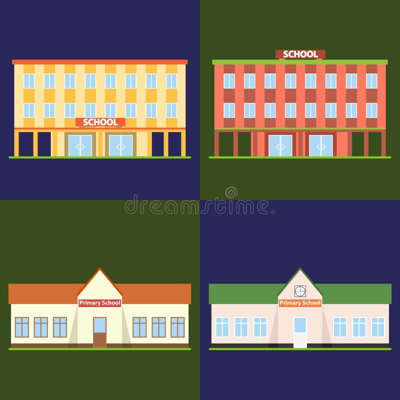 Escola, prédio da escola ilustração do vetor