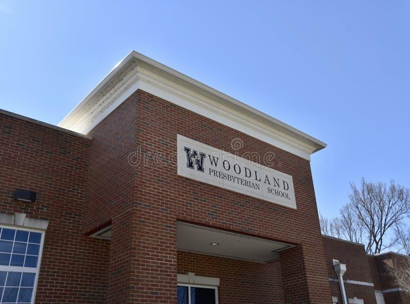 Escola presbiteriano da floresta, Memphis, TN imagens de stock