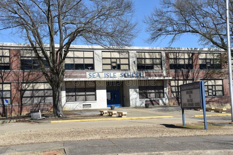 Escola primária da ilha do mar, Memphis, TN foto de stock
