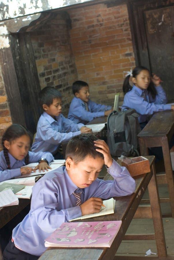 Escola primária em Kathmandu imagem de stock