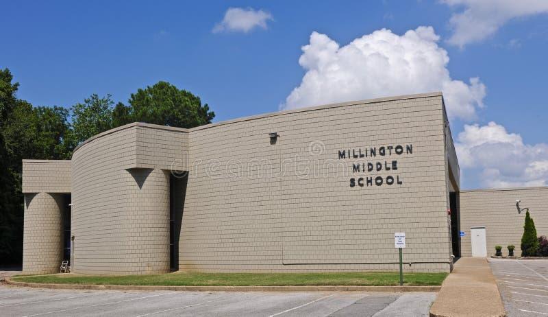 Escola secundária de Millington foto de stock royalty free