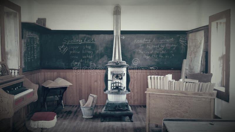 Escola velha do tempo fotos de stock royalty free
