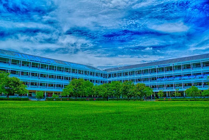 escola verde HDR imagem de stock royalty free