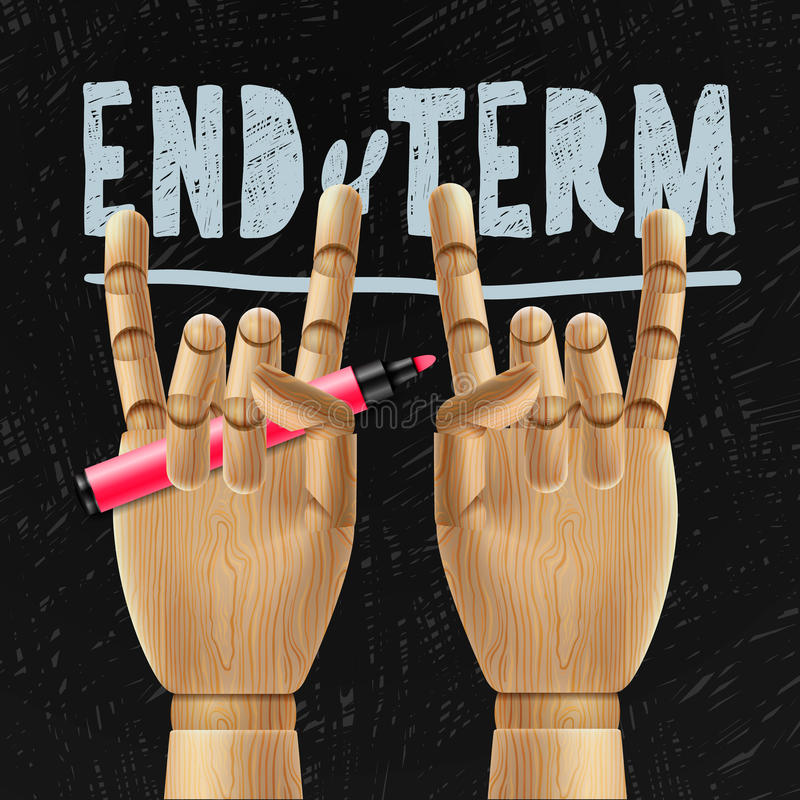 Escolas para fora, fim do termo ilustração do vetor