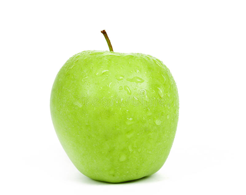 Escolha Apple verde isolado em um fundo branco fotos de stock