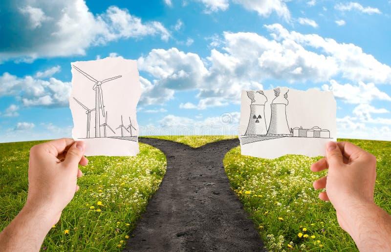 Escolha as fontes energéticas imagem de stock