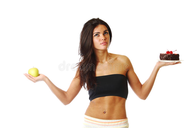 Escolha da dieta imagens de stock