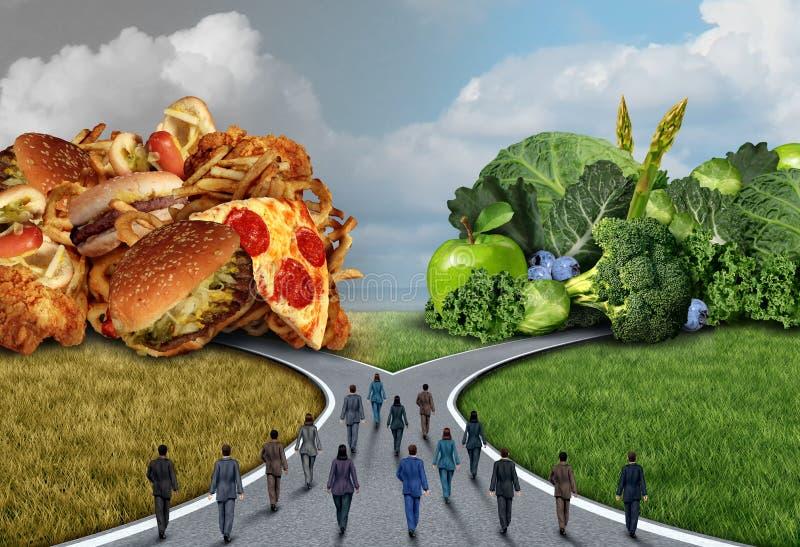Escolha da dieta de alimento da sociedade ilustração royalty free