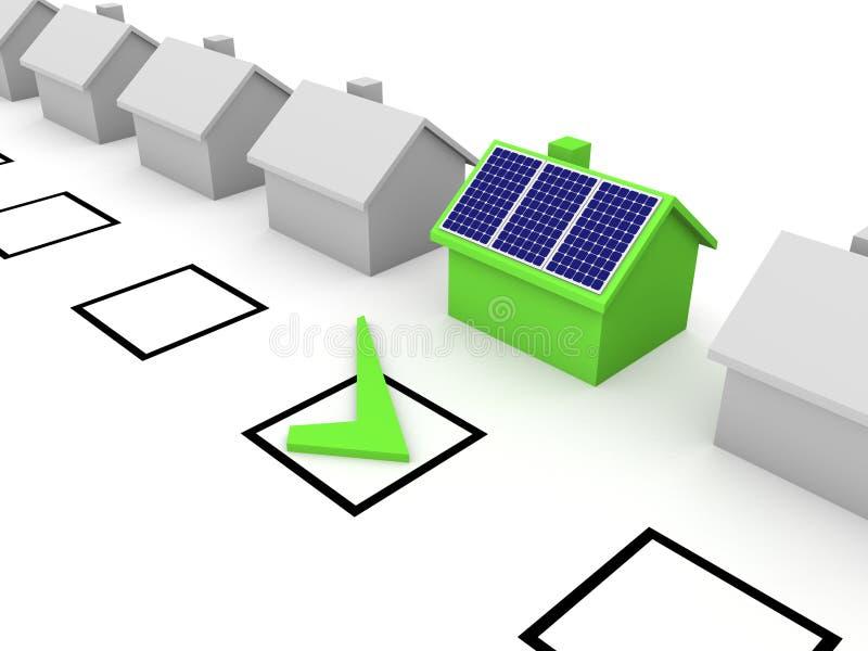 Escolha da energia solar ilustração do vetor