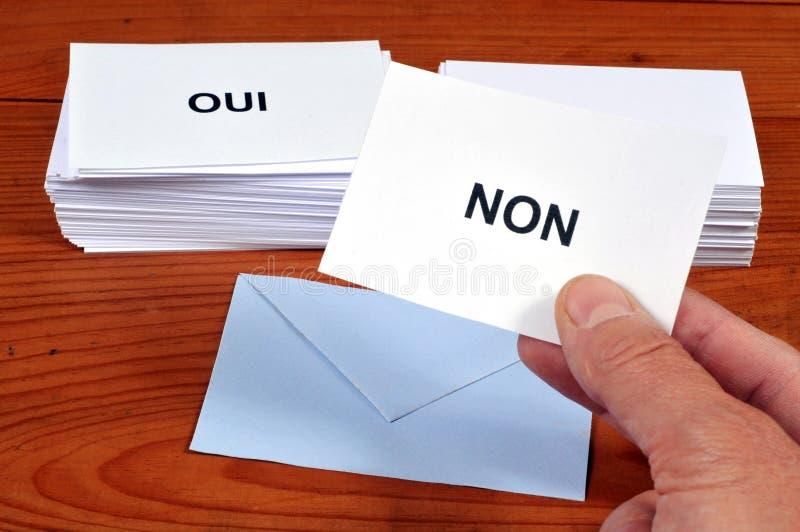 Escolha de sim ou não a um referendo ilustração royalty free