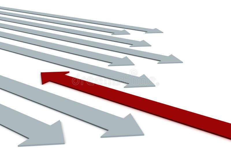 Escolha de um sentido de movimento. ilustração do vetor