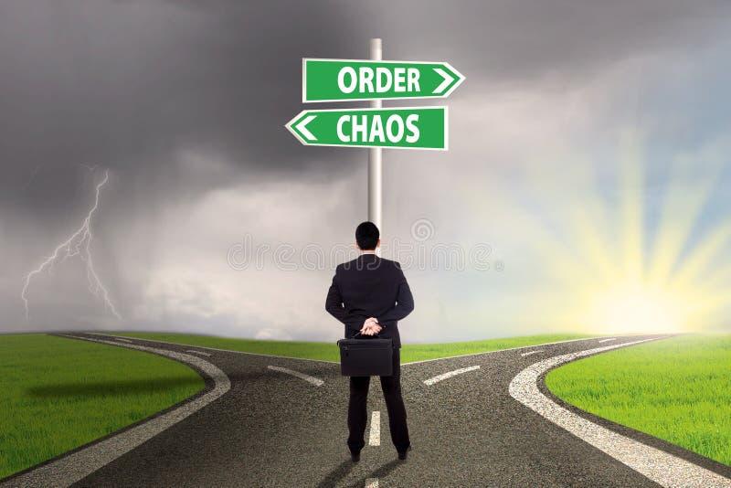 Escolha do caos e da ordem fotografia de stock royalty free