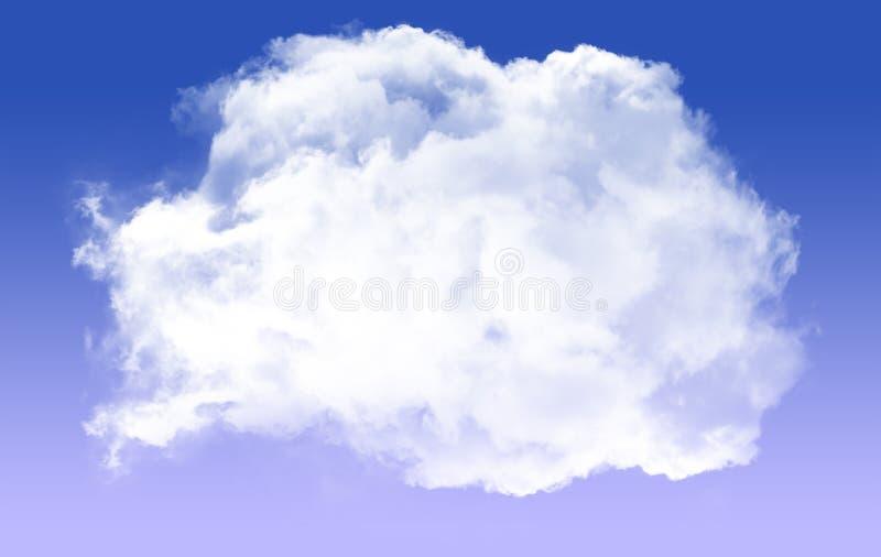 Escolha em volta da forma da nuvem isolada sobre o fundo azul ilustração do vetor