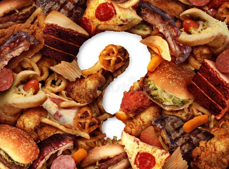 Escolha insalubre do alimento ilustração royalty free
