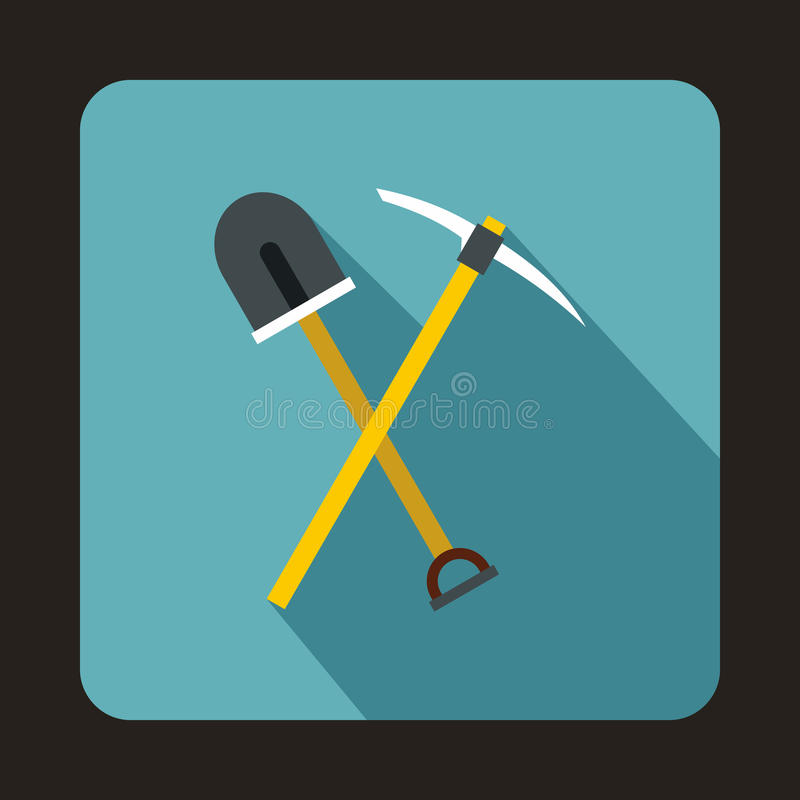 Escolha o ícone da ferramenta e da pá, estilo liso ilustração royalty free