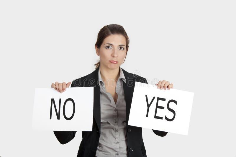 Escolha sim ou do No. fotos de stock royalty free