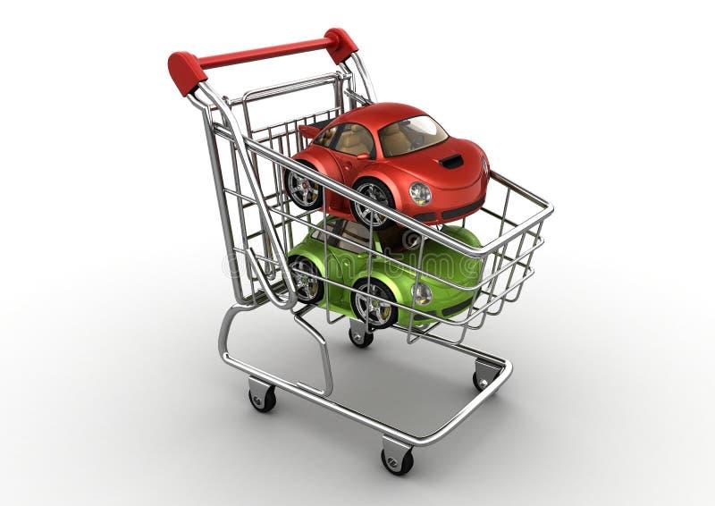 Escolha um carro novo ilustração stock