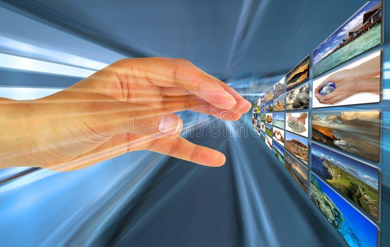 Escolha virtual fotografia de stock