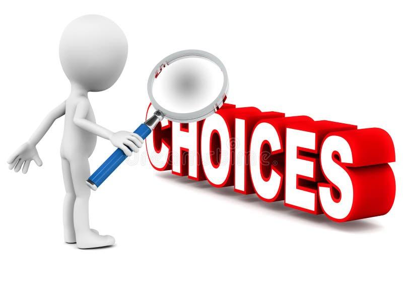 Escolhas ilustração do vetor