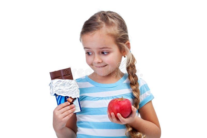 Escolhas da dieta imagens de stock royalty free
