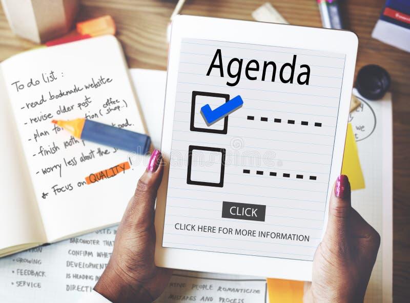 Escolhas da lista de verificação para fazer o conceito da avaliação da auditoria foto de stock royalty free