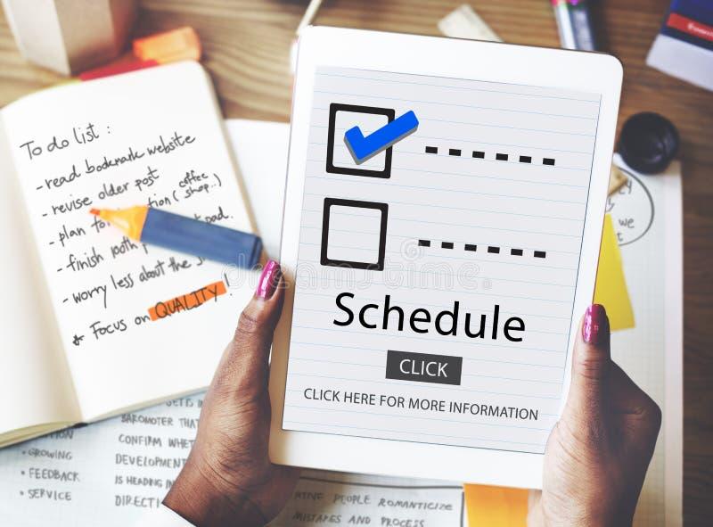 Escolhas da lista de verificação para fazer o conceito da avaliação da auditoria fotografia de stock royalty free