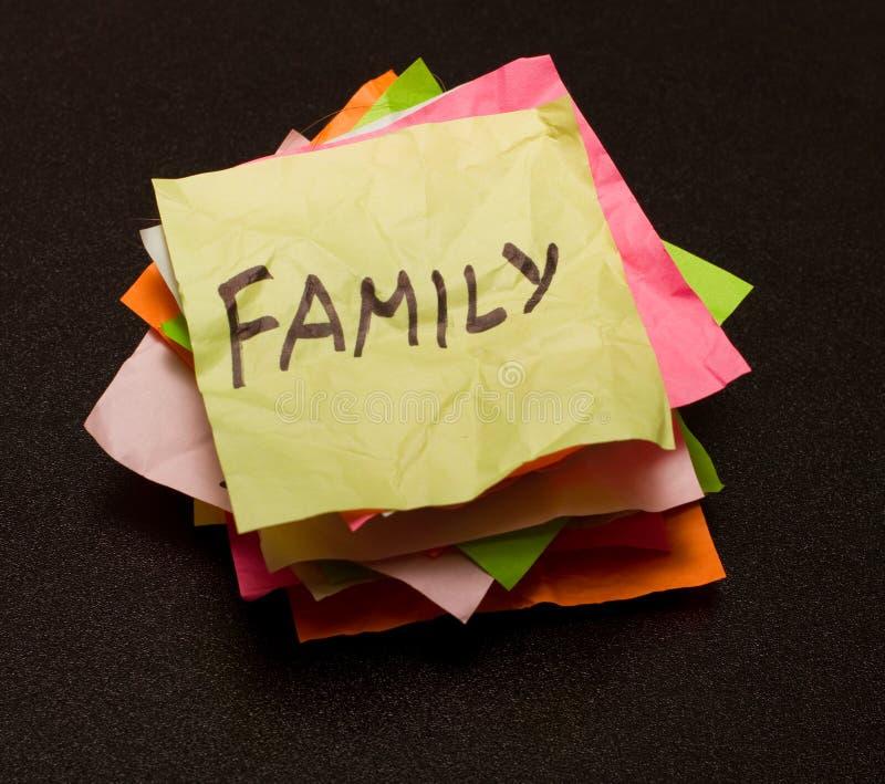 Escolhas da vida - família foto de stock