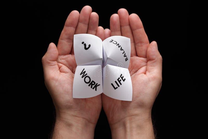 Escolhas do balanço da vida do trabalho imagem de stock royalty free